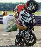 Balancing your motor bike will safe your life..! PatheticPhotos.com